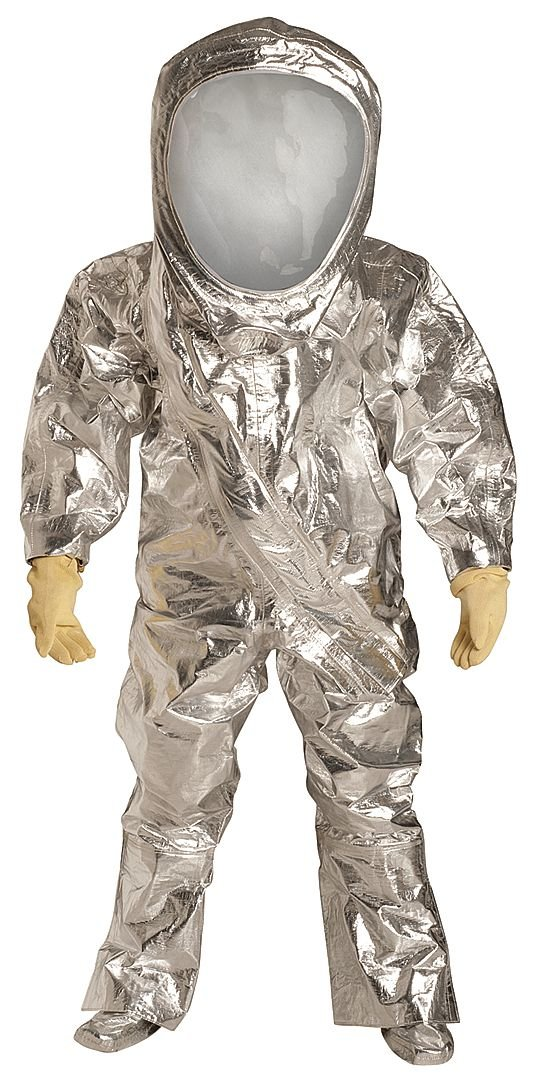 S Silver Tychem 10000 FR Material DuPont Level A Front-Entry Encapsulated Suit RF600TSVSM000100