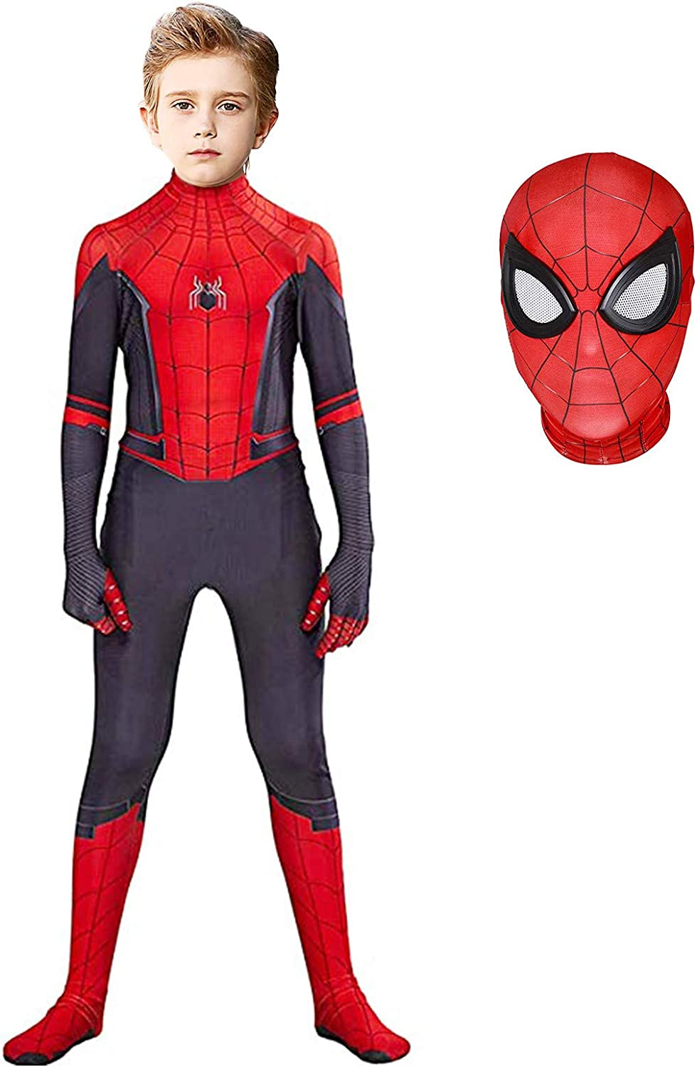 Superhero Costume Bodysuit for Kids Spandex Zentai Halloween Cosplay Jumpsuit 3D Style
