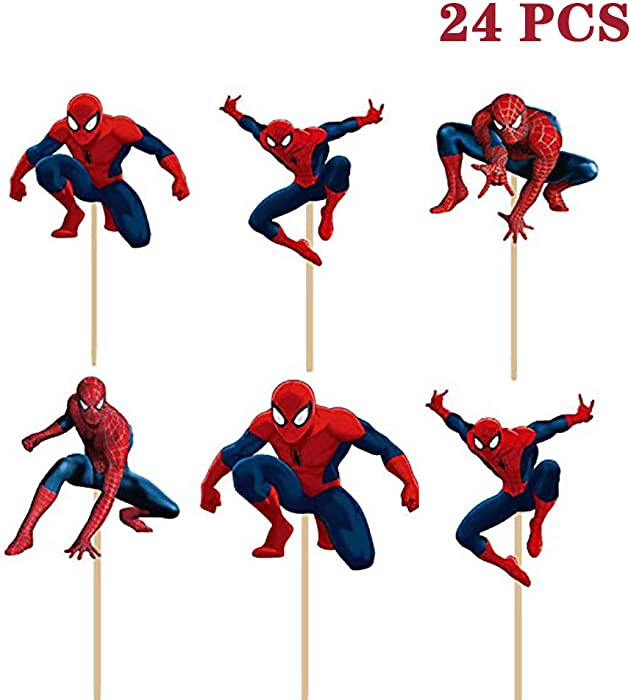 Top 9 Cupcake Decor Spiderman
