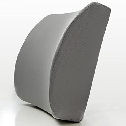 JAPAN SOLUTIONS 3d Memory Foam Lumbar Support Cushion Premium Ergonomic  Pillow For Lower Back Pain Relief