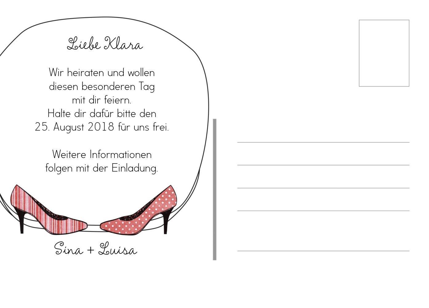 Save-the-Date High Heels, 30 Karten, RosaRosa B07B6LXJRZ | Queensland  | | | Hochwertige Produkte  | Großer Verkauf  7cd79b
