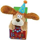 """12"""" Flappy Birthday Animated Plush Puppy Dog Singing """"Happy Birthday"""""""