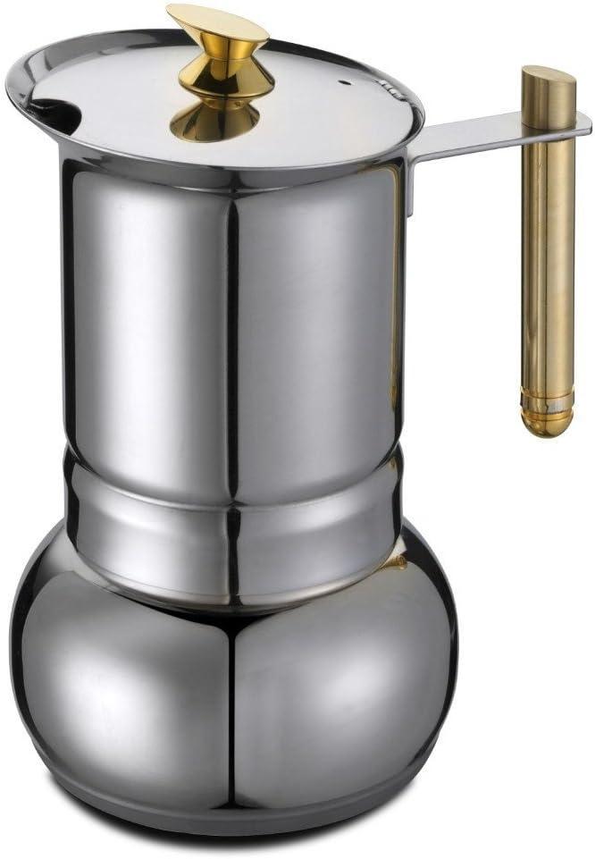 GAT Italy Amore - Cafetera Italiana de 6 Tazas (Acero Inoxidable, 30 x 25 x 25 cm), Color Dorado: Amazon.es: Hogar