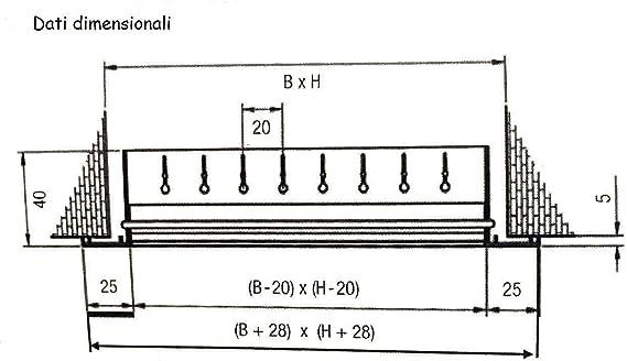 Blanc Evco Grille de reprise pour canalisations d/'Air Chaud ou Froid//Diffuseur d/'Air