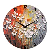 DDLBiz Silent Non-Ticking Digital Wall Clocks for Kitchen Study Office Room Decorations (K)