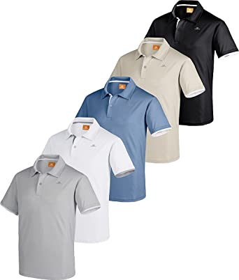 ad1cdf2a2b85 Nordcap Poloshirts Funktionsshirts, 5er Pack Hochwertige Herren Kurzarm- Polos (Größen  M
