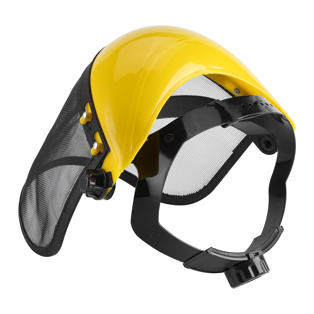 Casco de Seguridad Con Visera de Malla Completa,Asixx,Proteger El Cuello,Ojos,Orejas, Para Trabajos de Silvicultura o Agricultura