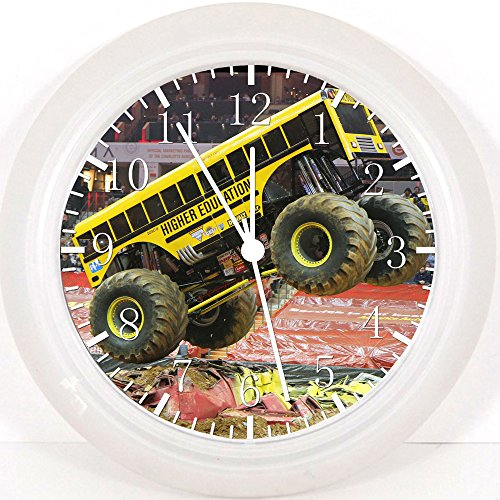 Big Foot Monster Truck School Bus Wall Clock E255 Nice For Gift or Home Office Wall Decor 10