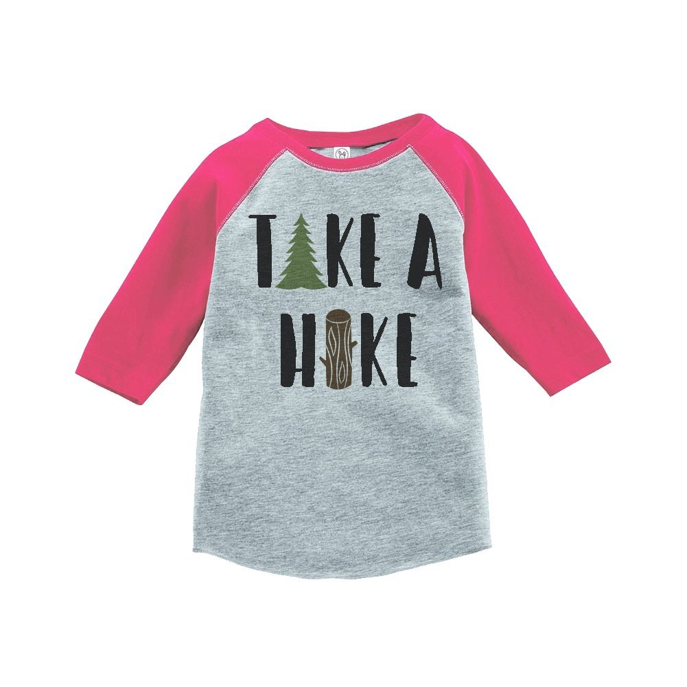 Custom Party Shop Girls Take a Hike Outdoors Raglan Tee