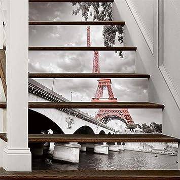 Pegatinas para escaleras 6 UNIDS 3D Paisaje Pegatinas para escaleras DIY Pasos Tatuajes de pared Mural Impermeable Extraíble Papel de vinilo Vinilos decorativos para el hogar Decoración creativa, J: Amazon.es: Bricolaje y