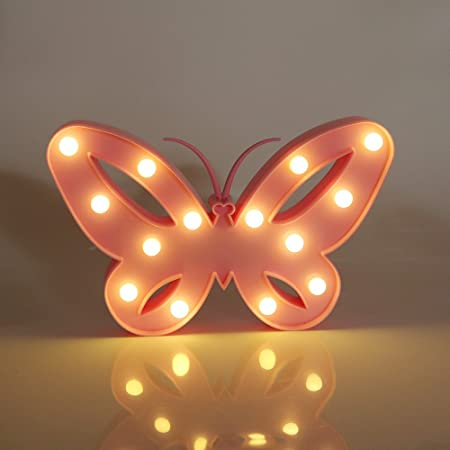 Vimlits 3d butterfly night light led marquee light christmas table vimlits 3d butterfly night light led marquee light christmas table lamps for kids children aloadofball Image collections