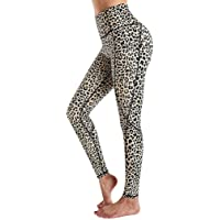 DSAGF Women's High Waist Yoga Pants Tummy Control Slimming Leggings Workout Running Butt Lift Tights Leopard Print Track…