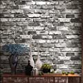 Birwall Faux Rustic Brick Stone Wallpaper Wall Paper for Livingroom Kitchen Bedroom,20.8 In32.8 Ft=57 Sq.ft