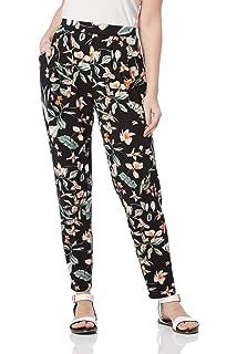 705079402338 Roman Originals Women Floral Print Harem Elasticated Pants - Ladies Tapered  Legs Printed…