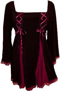 ebf8261731 Dare to Wear Victorian Gothic Boho Women s Plus Size Gemini Princess Corset  Top