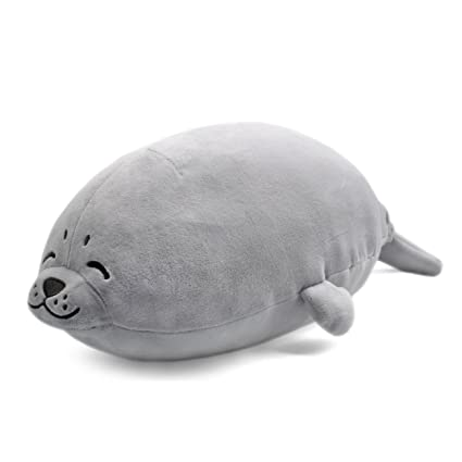 Amazon.com  sunyou Plush Cute Seal Pillow - Stuffed Cotton Soft Animal Toy  Grey 16.5 inch 45cm (Small) Gift for Women on Women s Day  Toys   Games f4ce3218b4