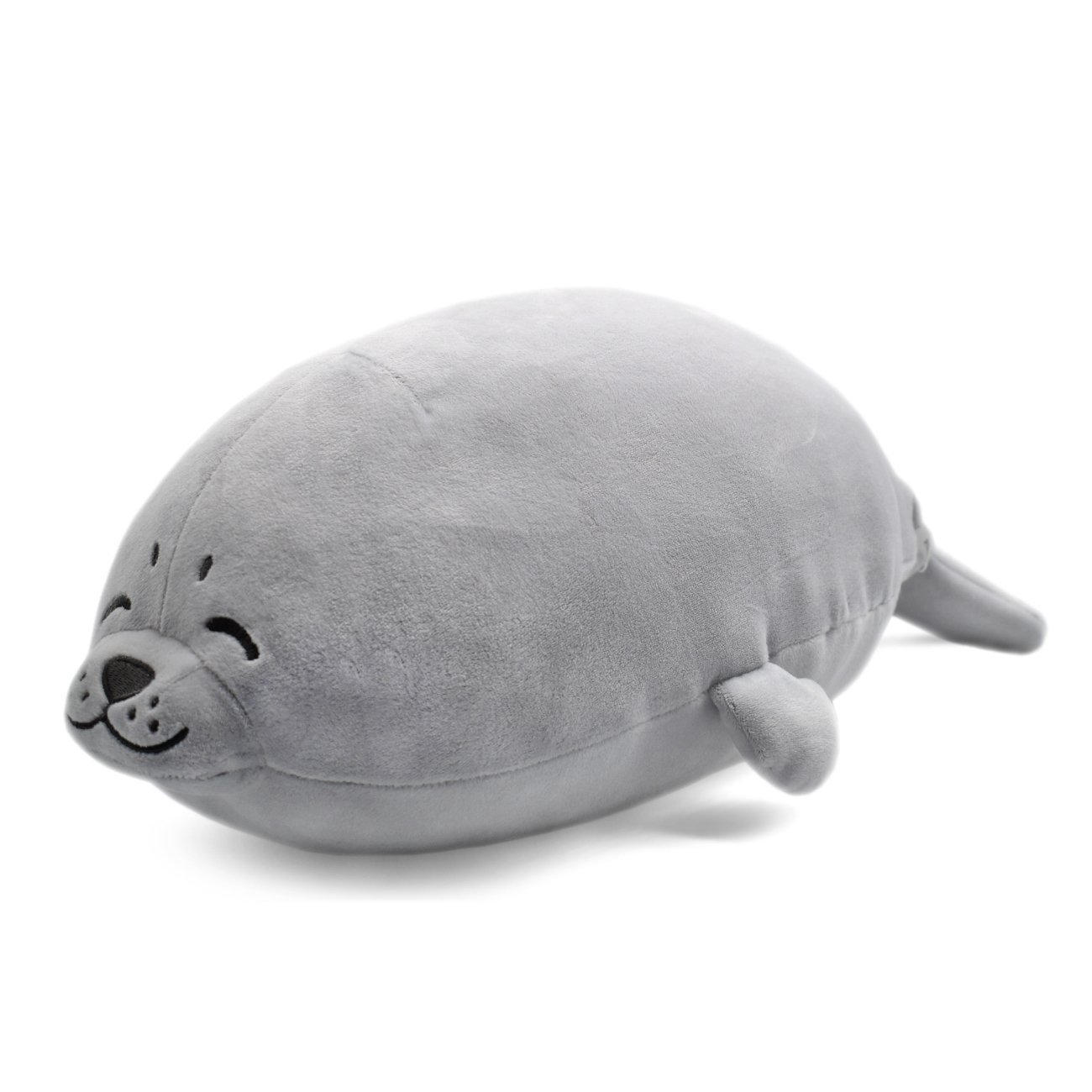 Plush Cute Seal Pillow - Stuffed Cotton Soft Animal Toy Grey 16.5 inch/45cm (Small) Gift For Kid/Nephew/Niece On Children's Day