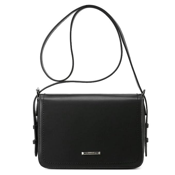 ECOSUSI Tasche Damen Umhängetasche Mode Mädchen Schultertasche Messenger Bag Quadratische Tasche Handtaschen Schwarz