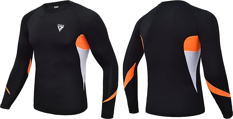 RDX MMA Chemise de Compression N/éopr/ène Rashguard Manche Longue Shirt Sudation Arts Martiaux