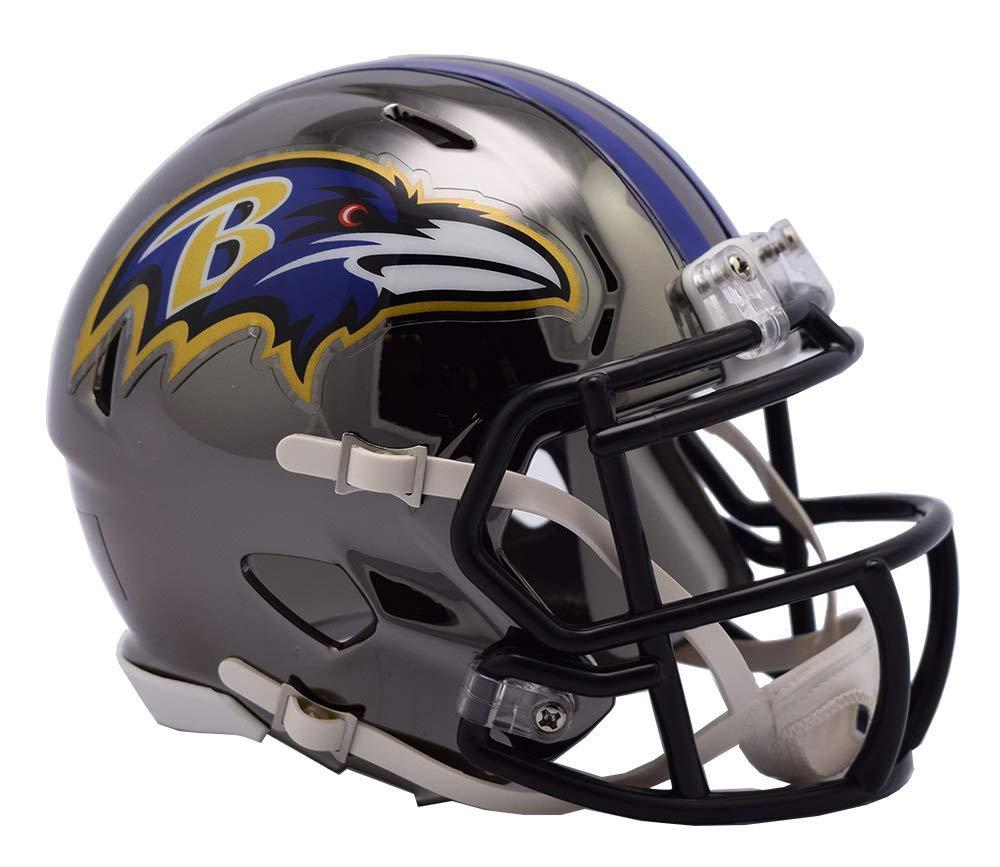 Riddell Chrome Baltimore Ravens Speed Mini Football Helmet 2018 Chrome Alternate