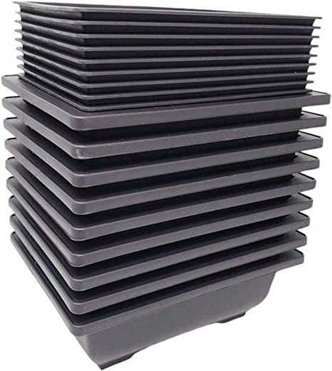 Made Bonsai Training Pots Humidity Trays Built in Mesh 8-Inch Large Planters