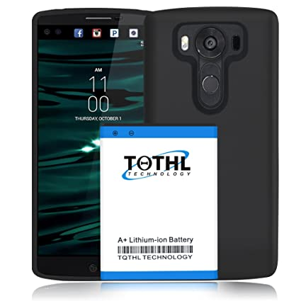 size 40 127b9 741fa TQTHL LG V10 [7600mAh] Extended Battery Replacement with Back Cover ...