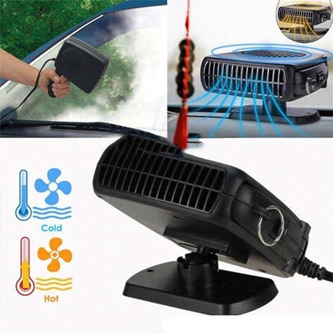 Ventola riscaldatore elettronico Automatico 12V Sbrinamento Riscaldamento rapido scaldabagno 150W Ceepko Riscaldatore o Ventilatore Portatile per Auto Spina termostato Regolabile in accendisigari