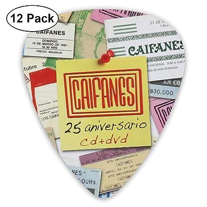 Laura J Woods Caifanes 25 Aniversario diseño único púa de Guitarra: Amazon.es: Hogar