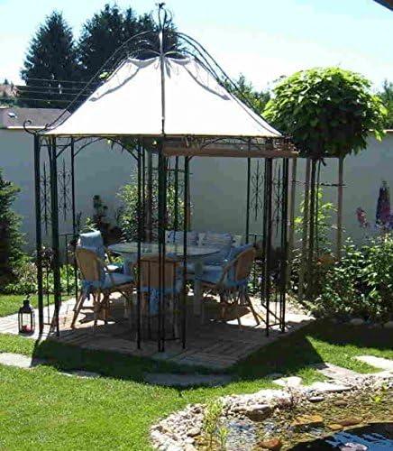 Pavillion metal Carpa Pavilion Cenador Hierro forjado romanco Negro: Amazon.es: Jardín