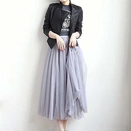 8ae3630d0f Yesiidor Women Tulle Mesh Long Skirt Fluffy Elastic Muti Layered Ruffle  Frilly Bridal Mesh Petticoat Skir: Amazon.co.uk: Kitchen & Home