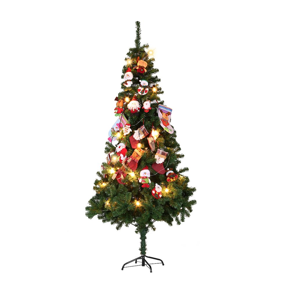 27cd6c023f2a Amazon.com  Festnight Artificial PVC Christmas Pine Spruce Hinged Full Tree  with Solid Metal Stand