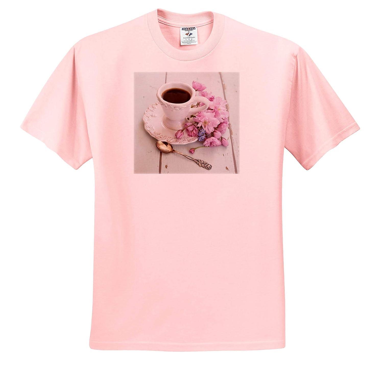 3dRose Uta Naumann Photography Flowers T-Shirts Still Life Photography Romantic Flowers Cherry Blossoms and Mug