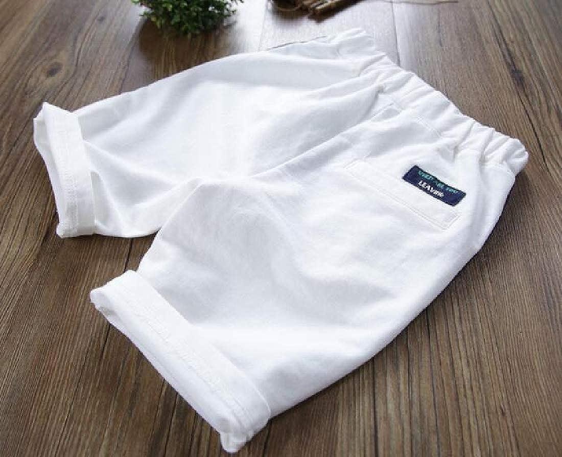 GLORYA Boys All-Match Cute Solid Cotton Sports Shorts