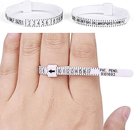Medidor de tamaño de anillo, 2 unidades de medidor de dedo us size ...