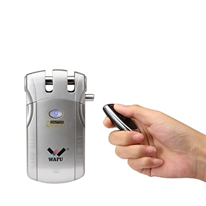 Wafu sin llave inteligente remoto puerta Lock & Wireless Invisible antirrobo cerradura y cerradura para puerta
