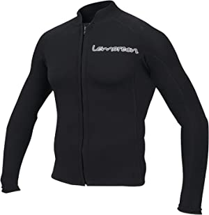 Lemorecn Men's 2mm Wetsuits Jacket Long Sleeve Neoprene Wetsuits Top