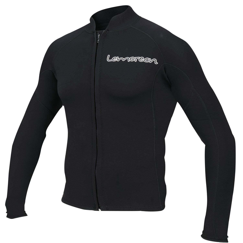 Lemorecn Men's 2mm Wetsuits Jacket Long Sleeve Neoprene Wetsuits Top (2021black-M) by Lemorecn
