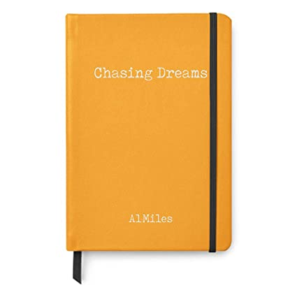 8afe1f89878 Amazon.com   Chasing Dreams Personalized A5 Lined Paper Notebook  Inspirational Quotes Journal Gifts - Yellow   Office Products