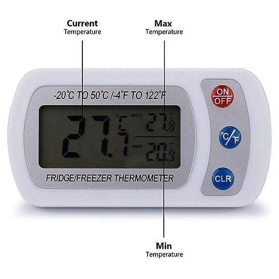 Cocina Termómetro del refrigerador del congelador de refrigerador ...