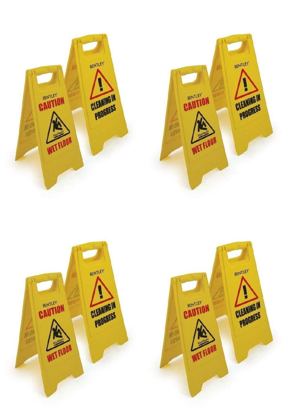 Cuatro unidades precaución por suelo mojado cartel de ...