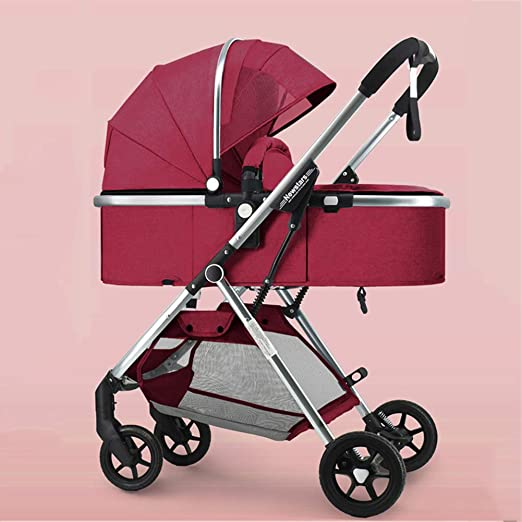 WYX Stroller Cochecito de bebé de Cuatro Ruedas con una Sola