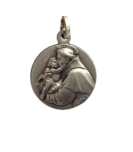 fbc502c9732 San antonio de padua medalla de plata maciza las medallas de los patronos  joyería jpg 439x500