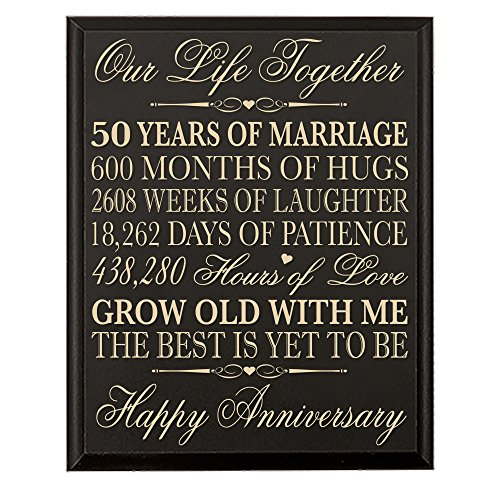 50th Wedding Anniversary Wall Plaque Gifts for Couple, 50th Anniversary Gifts for Her,50th Wedding Anniversary Gifts for Him 12 W X 15