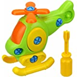HEART SPEAKER Kids Baby Early Learning Airplane Disassembly Assembly Puzzle Educational Toys size Helicopter