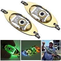 BODYART 5 stücke LED Tiefer Tropfen Augen Form Fisch Squid Lure Light Flash Lampe