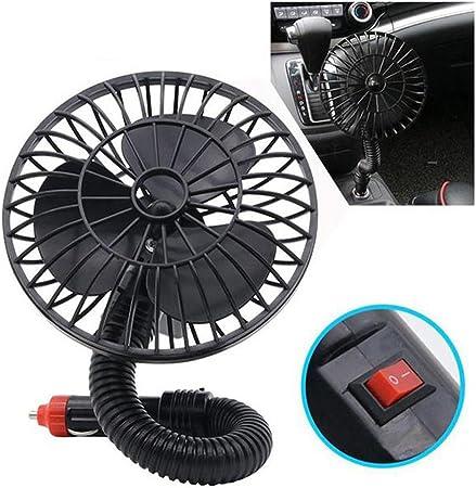 LIOOBO 12 V Mini Ventilador de Coche Eléctrico Portátil Coche de ...