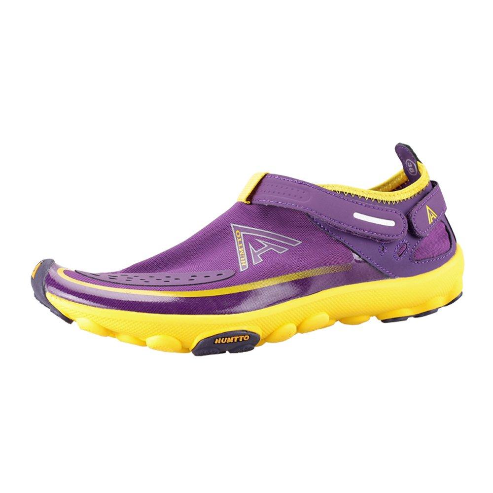 HUMTTO Unisex Athletic Water Shoes Man and Women Swim Walking Lake Beach Boating Shoes B0794YWMVC women 8.5/ man 7|2327 Purple