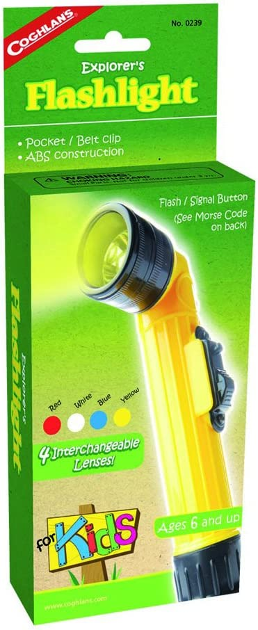 Coghlan/'s Explorer/'s Flashlight for Kids Camping Light Lamp Signal Toy 2-Pack