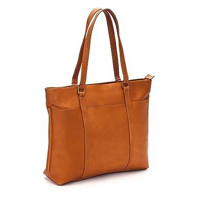 b5013563ea81 Amazon.com: Le Donne Women's Laptop Tote Bag, Leather Computer ...