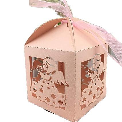 Amazon Com Meizoken Laser Cut Baby Angle Wedding Box Candy Box Gift